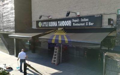 Instalación de toldos para comercios en Madrid