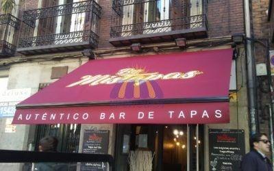 Toldo extensible, instalación Madrid centro, Bar MisTapas