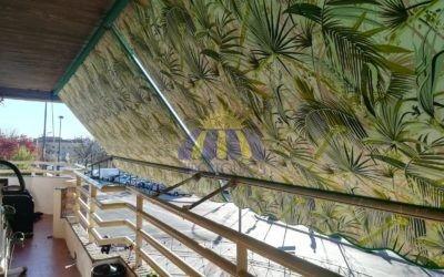 Instalación de toldo Stor y toldo extensible en Vallecas – Hipertoldos 2019