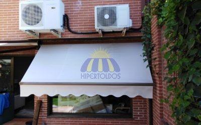 Instalación de cofre extensible y toldo de punto recto – Boadilla del Monte Madrid